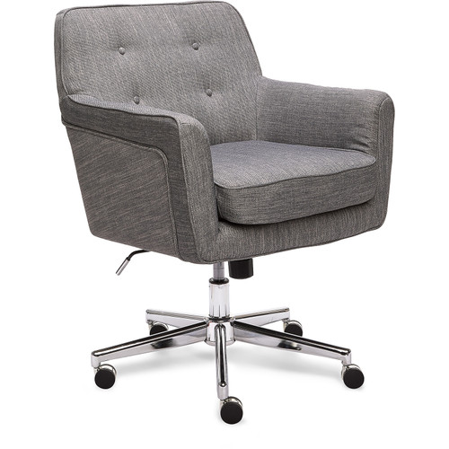 Serta Style Ashland Home Office Chair Gray Twill Fabric Clickdecor