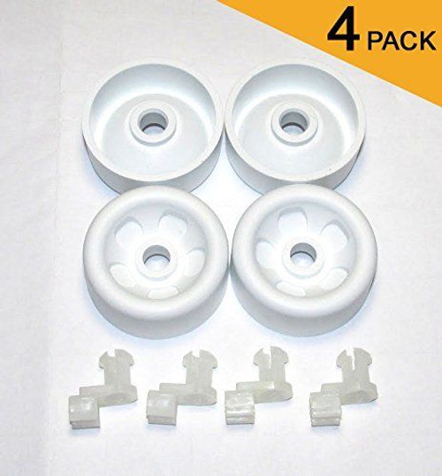4-Pack WD12X271 GE DISHWASHER RACK ROLLER & AXLE KIT / AP2039084 PS259136