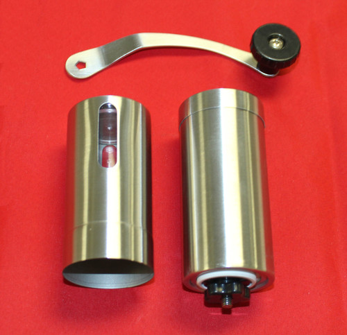 Stainless Steel Ceramic Burr Manual Coffee Grinder Portable Hand Crank Bean Mill