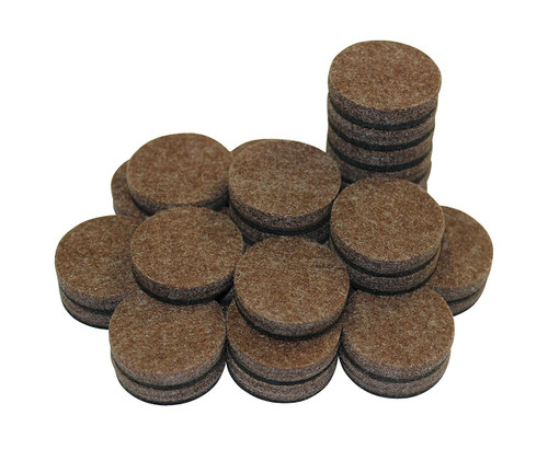 """Self-Stick Furniture Round Felt Pads for Hard Surfaces – Protect your Hard Floors from Furniture Scratches, 1"""" Brown, Round (50 not 48 Pieces)"""