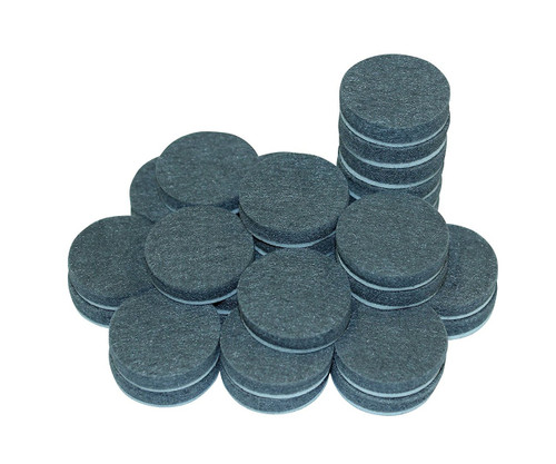 "Self-Stick Furniture Round Felt Pads for Hard Surfaces – Protect your Hard Floors from Furniture Scratches, 1"" Grey, Round (50 not 48 Pieces)"