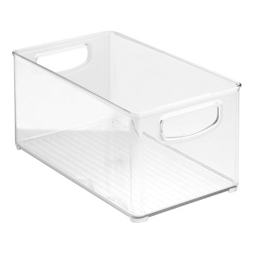 "Home Kitchen Organizer Bin for Pantry, Refrigerator, Freezer & Storage Cabinet, 10"" x 5"" x 6"", Clear"