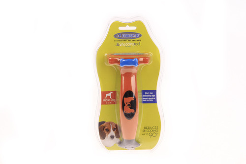 M-Size DeShedding Tool for Medium Dogs with Short Hair - M (21-50 lbs) Portable