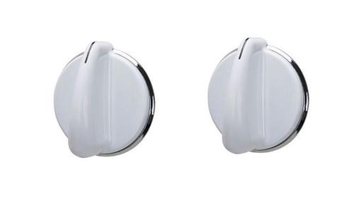 Knob ( 2 Pieces ) Compatible with GE Dryer WE01X20378 175D3296P001 WH01X10460