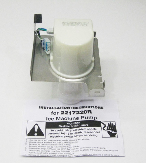 WP2217220 for Whirlpool Ice Machine Maker Water Pump AP6006664 PS11739740