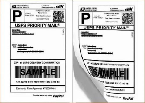 800 Adhesive Shipping Labels Blank 2/Sheet 8.5 X 5.5