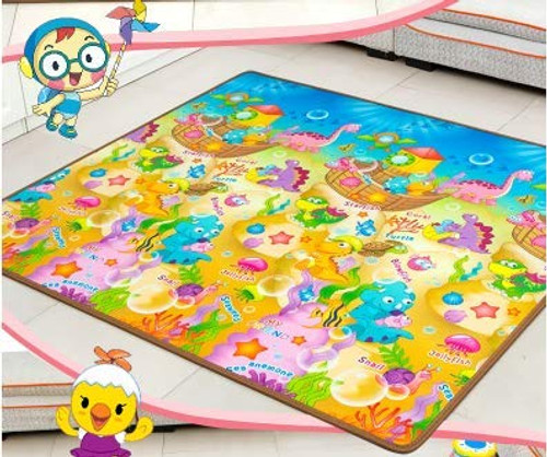 Baby Care Play Mat Foam Floor Gym - Non-Toxic Non-Slip Reversible Waterproof