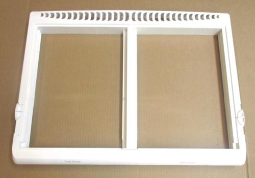 Crisper Drawer Cover Frame Compatible with Frigidaire Refrigerator 240364787