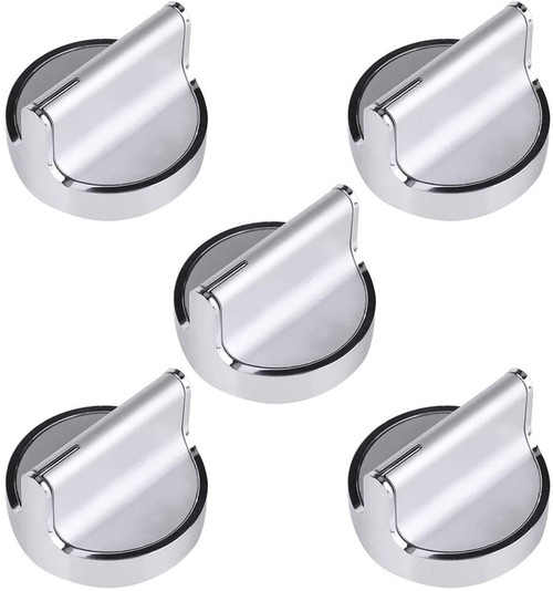 Knob Compatible with Whirlpool Range WPW10594481 W10594481 W10698166 ( 5 PCs )
