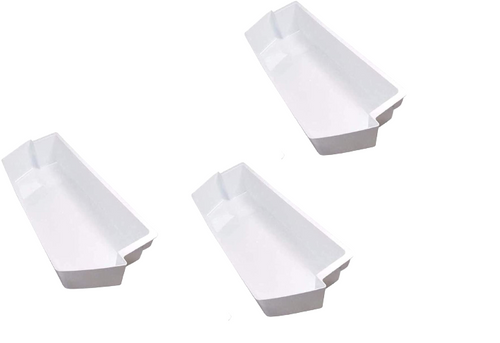 White Shelf Bin Compatible with Kenmore Whirlpool  Refrigerator  2187172  ( 3 PC