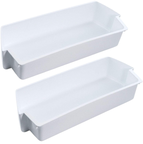 White Shelf Bin Compatible with Kenmore Whirlpool  Refrigerator  2187172  ( 2 PCs )