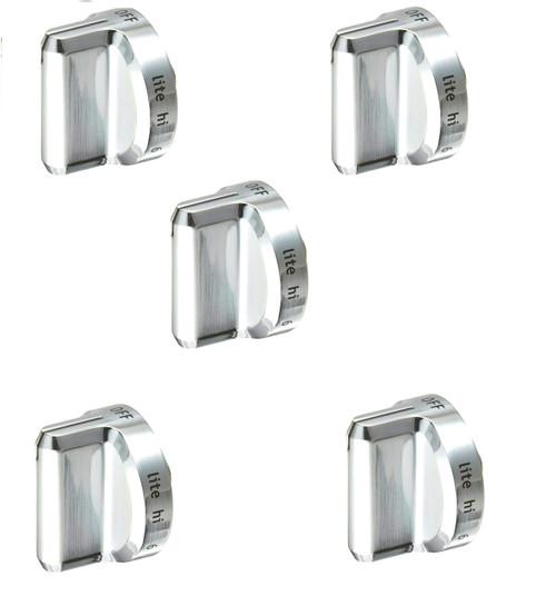Burner Knob ( Plastic ) Compatible with Frigidaire Range 5304502763 ( 5 PCs )