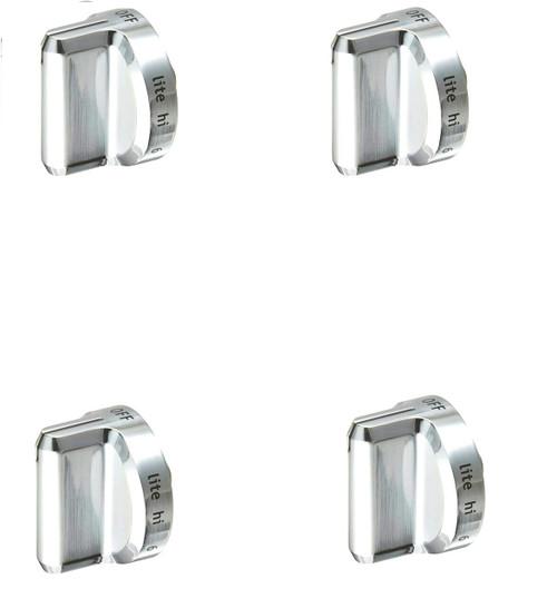 Burner Knob ( Plastic ) Compatible with Frigidaire Range 5304502763 ( 4 PCs )