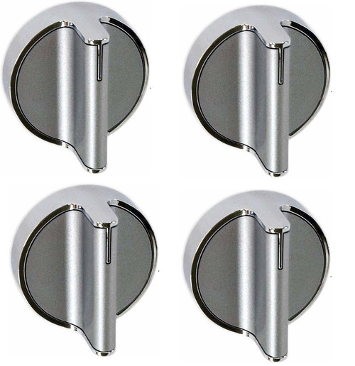 Surface burner knob Compatible with Whirlpool Range W10828837 ( 4 Pack )