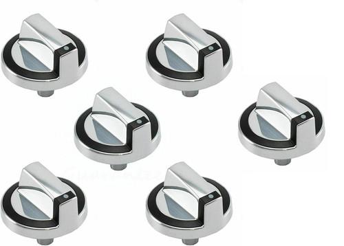 Control Knob Compatible with Whirlpool Range W10284885 G7CG3064XB00 ( 6 PCs )