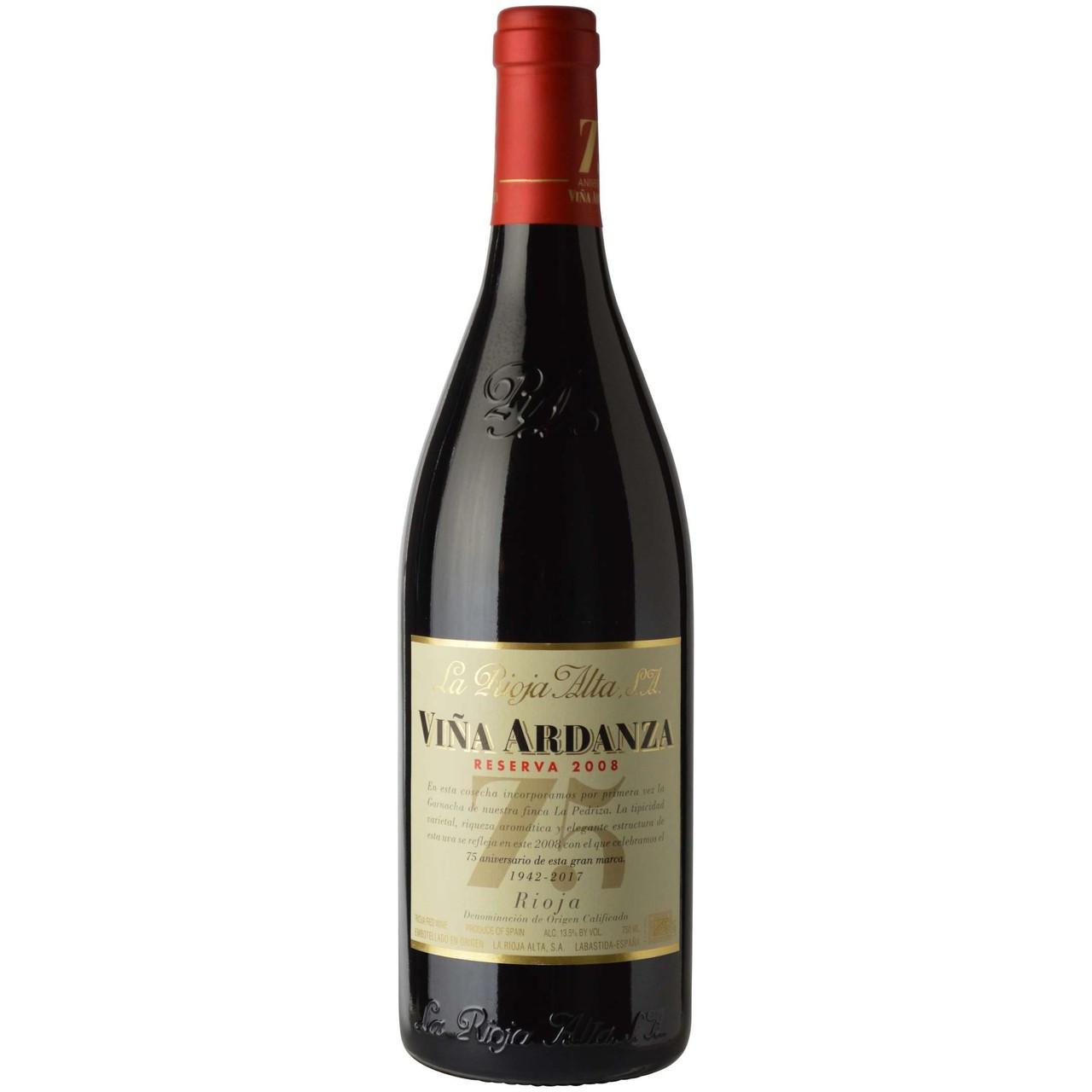 La Rioja Alta, Rioja Reserva Vina Ardanza 2008 (375 ML)
