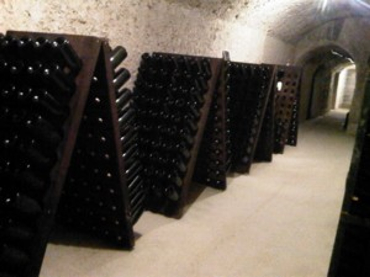 Caves and riddling racks, where every bottle is riddled by hand
