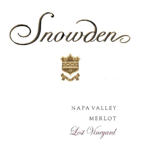 Snowden Vineyards, Merlot, Lost Vineyard, Napa Valley 2012
