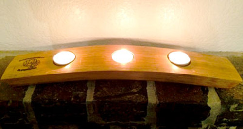 Wine Barrel Tealight Candle 3