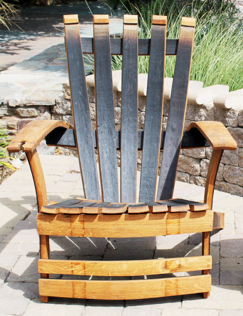 Vinous Reverie Wine Barrel Adirondack Chair