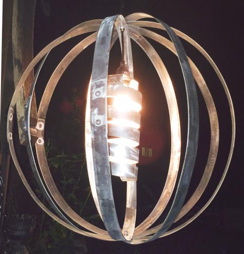 Vinous Reverie Wine Barrel Hoop Lamp