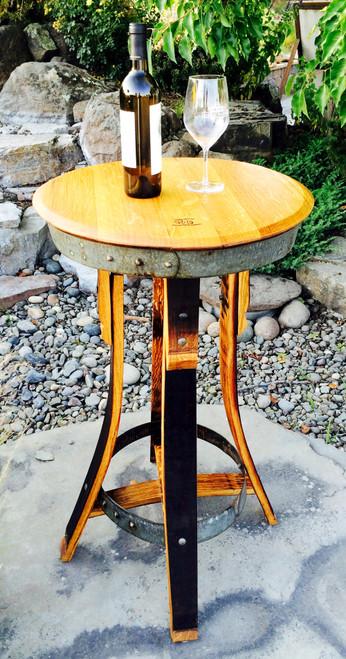 Vinous Reverie Wine Barrel Bar Table