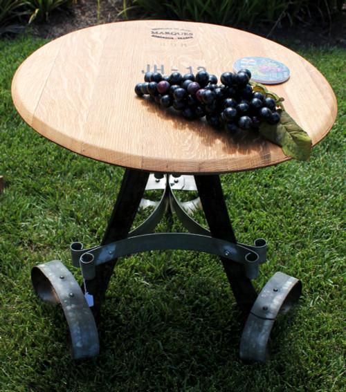 Vinous Reverie Wine Barrel Table with Ring