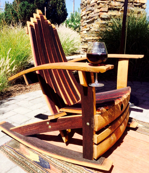 Vinous Reverie Wine Barrel Rocking Chair
