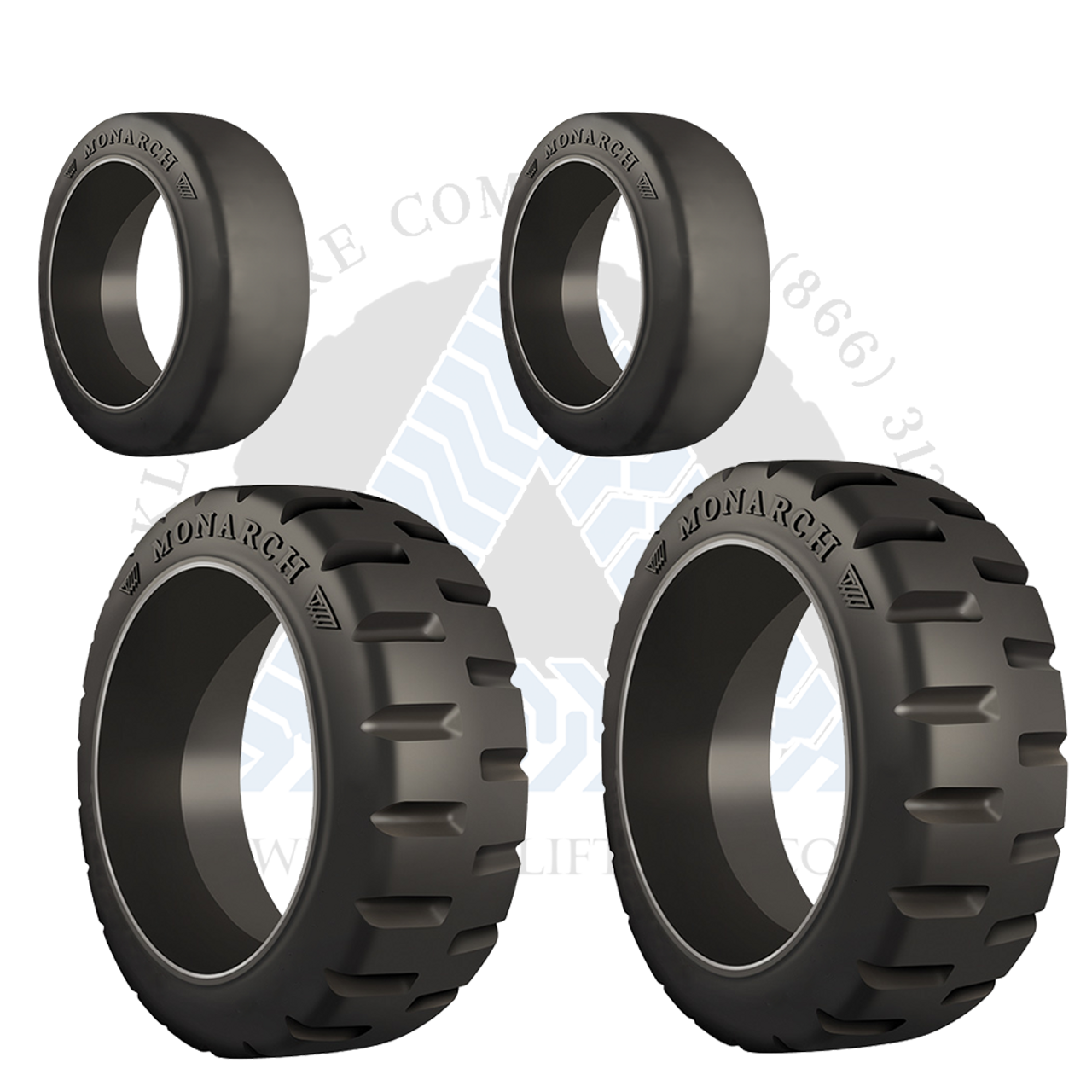 10x4x6-1//2 Forklift Rubber Press on Tire