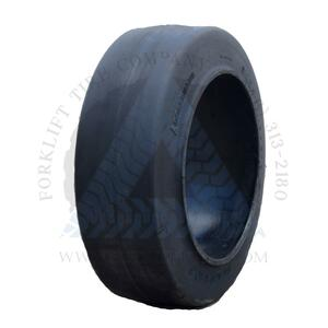 14x4-1/2x8 Black Rubber Forklift Cushion Solid Tire : SMOOTH