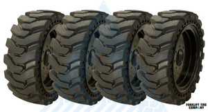 12x16.5 33x12-20 Solid Tire Assemblies for Skidsteers or 4X DEAL