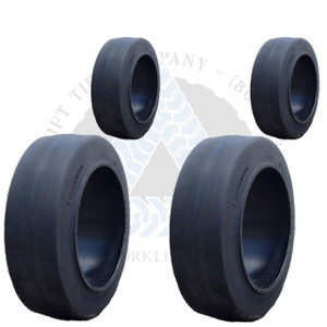 28x12x22 and 22x8x16 Black Rubber Forklift Cushion Solid Tires or 4X DEAL