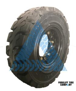 6.00x9 Black Rubber Forklift Resilient Solid Tire and Wheel or 9x4 6-Hole Split Wheel Assembly