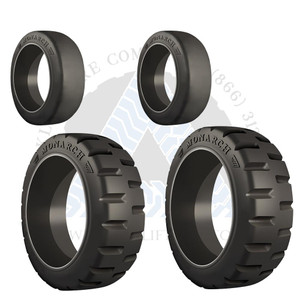 18x7x12-1/8 and 14x4-1/2x8 Monarch Cushion Solid Tires or 4X DEAL