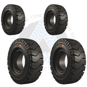 8.25x15-6.50 and 7.00x12-5.00 EliteXP Solid Resilient Tires or 4X DEAL