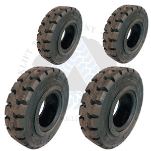 8.25x15-6.50 and 7.00x12-5.00 Made In USA Solid Resilient Tires or 4X DEAL