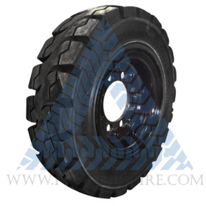 7.00x12 Black Rubber Forklift Resilient Solid Tire and Wheel or 12x5 8-Hole Split Wheel Assembly