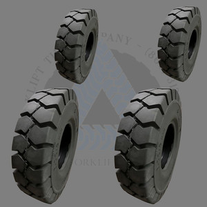 2.50x15-7.50 and 7.00x12-5.00 General-Usage Non-Mark Solid Resilient Tires or 4X DEAL