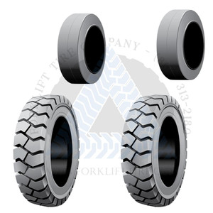 21x8x15 and 16x6x10-1/2 Non-Marking Solid Cushion Tires or 4X DEAL