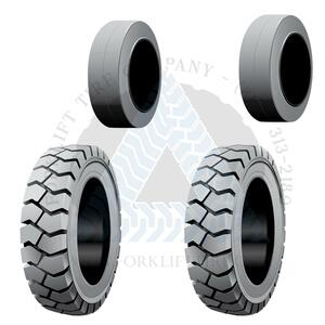 21x7x15 and 16x5x10-1/2 Non-Marking Solid Cushion Tires or 4X DEAL