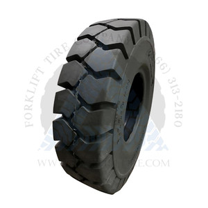 8.25x15-6.50 General-Usage No-Mark Solid Resilient Forklift Tire 6.5