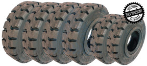8.25x15-6.50 and 7.00x12-5.00 Made In USA Solid Resilient Tires or 6X DEAL