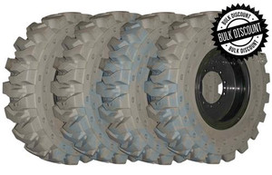 14.00x24 Non Marking Telehandler Solid Tires MOUNTED on Wheels or 4X DEAL