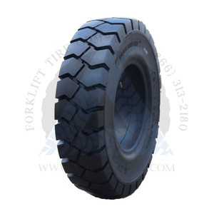 23x9-10-6.50 Forklift Resilient Solid Tire Black Rubber Traction Clip-Type