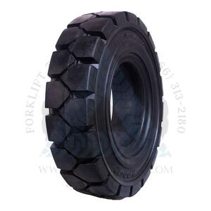 6.50x10-5.00 ROYAL Resilient Solid Tire Black Rubber Traction