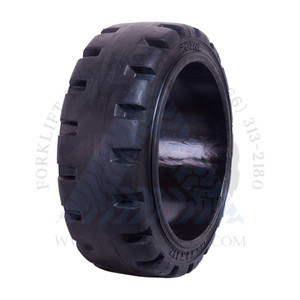 16-1/4x6x11-1/4 Black Rubber Forklift Cushion Solid Tire ROYAL TRACTION