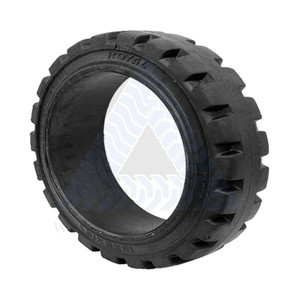 18x6x12-1/8 Black Rubber Forklift Cushion Solid Tire ROYAL TRACTION
