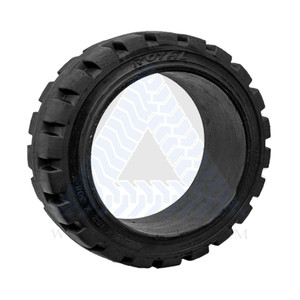 18x8x12-1/8 Black Rubber Forklift Cushion Solid Tire ROYAL TRACTION