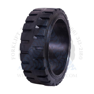 21x8x15 Black Rubber Forklift Cushion Solid Tire ROYAL TRACTION