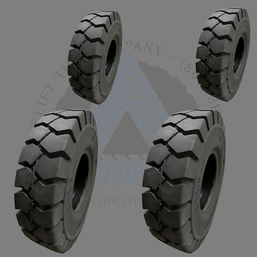 8.15x15-7.00 28x9-15 and 6.50x10-5.00 General-Usage Non-Mark Solid Resilient Tires or 4X DEAL